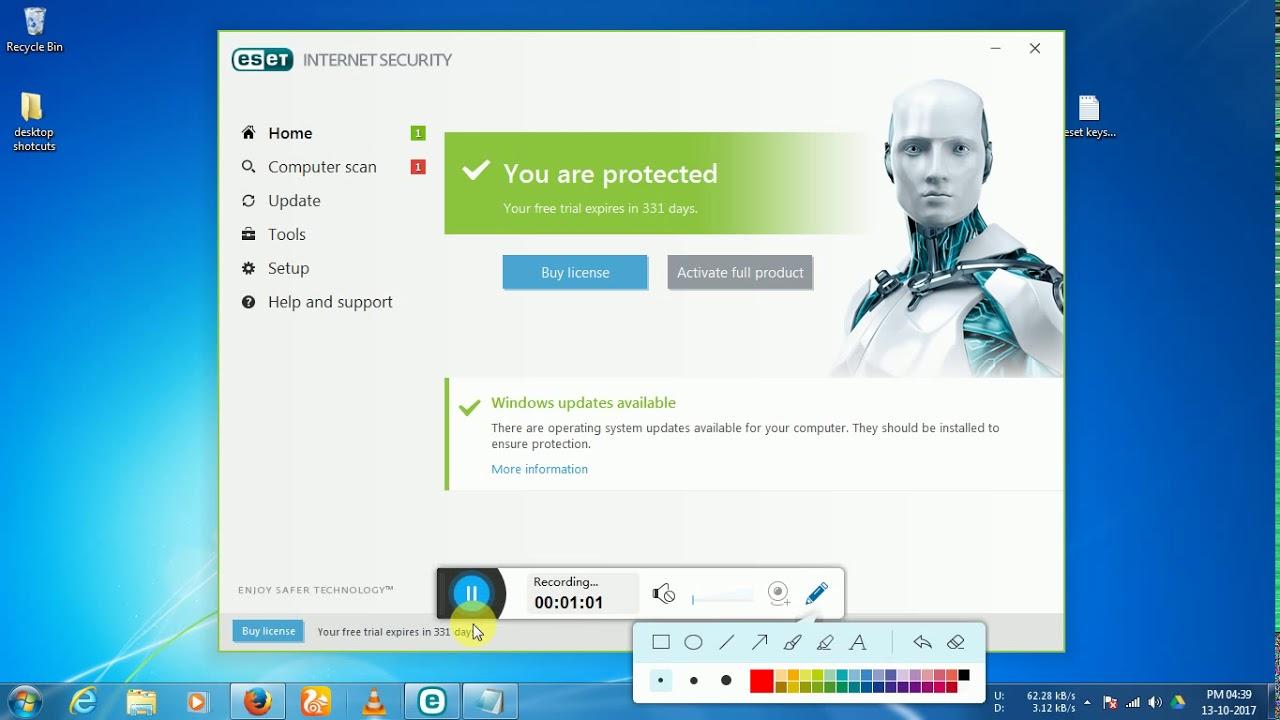 eset internet security key